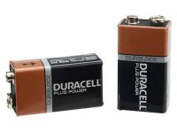 Duracell 9 Volt Alkaline Batteries Pack of Two